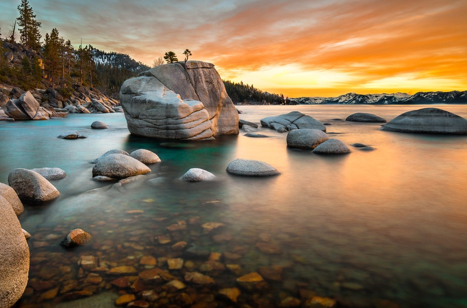 This photo was taken last spring at Lake Tahoe when the water was really low. I used a  ND filter...