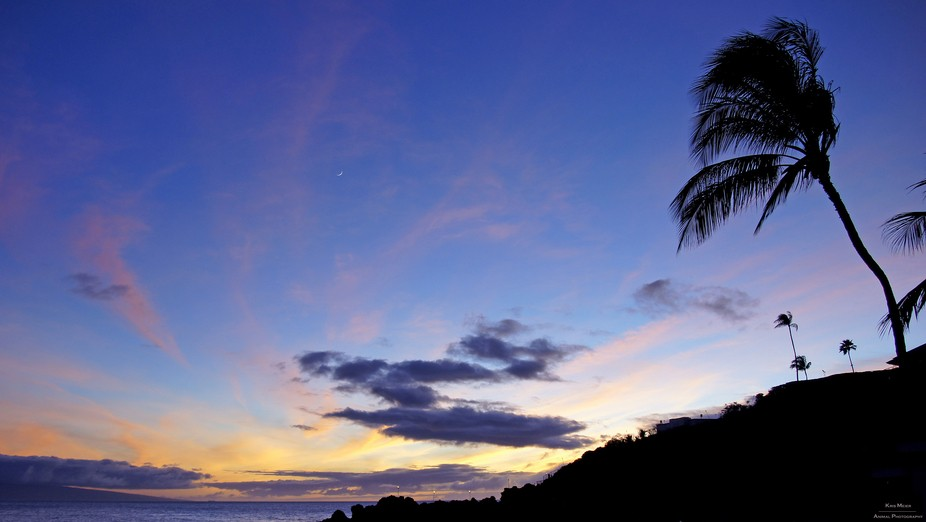 In between - after the sunset yet darkness has not yet fully fallen. I love the color-play with t...