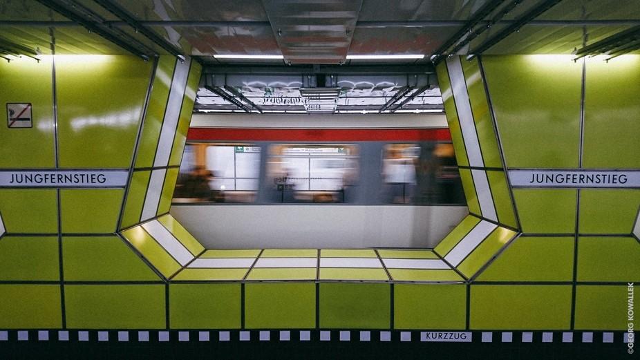 Subway station in Hamburg