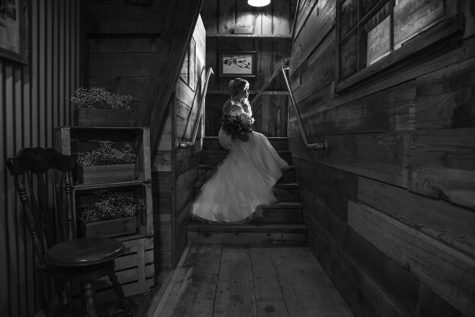 Had the privilege to photograph this barn wedding, 1 tiny little window provided all of this beau...