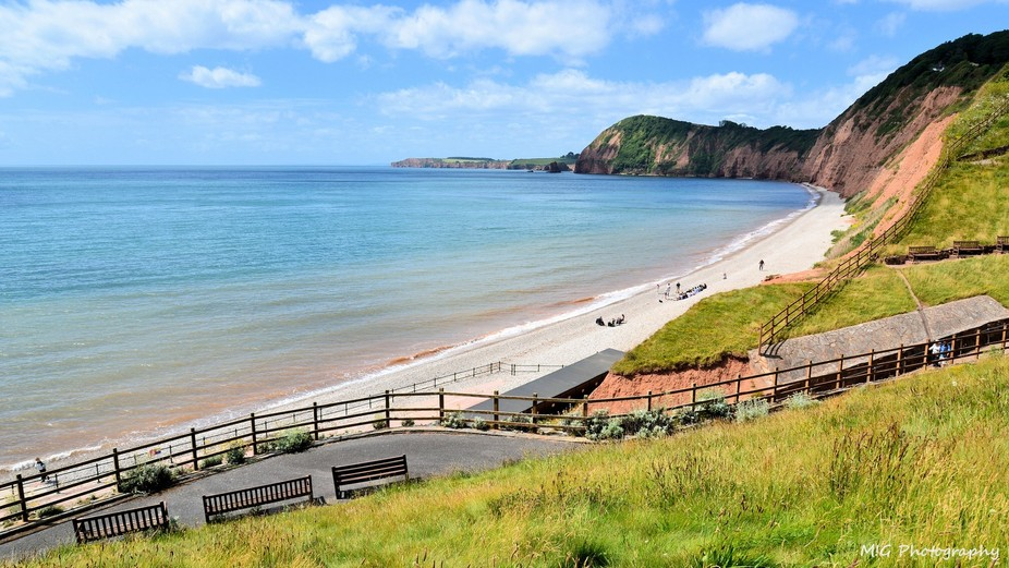 A sunny day in Sidmouth, Devon, UK