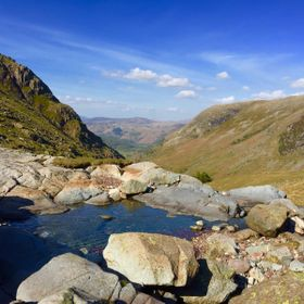 View of Seathwaite in the Lake District.