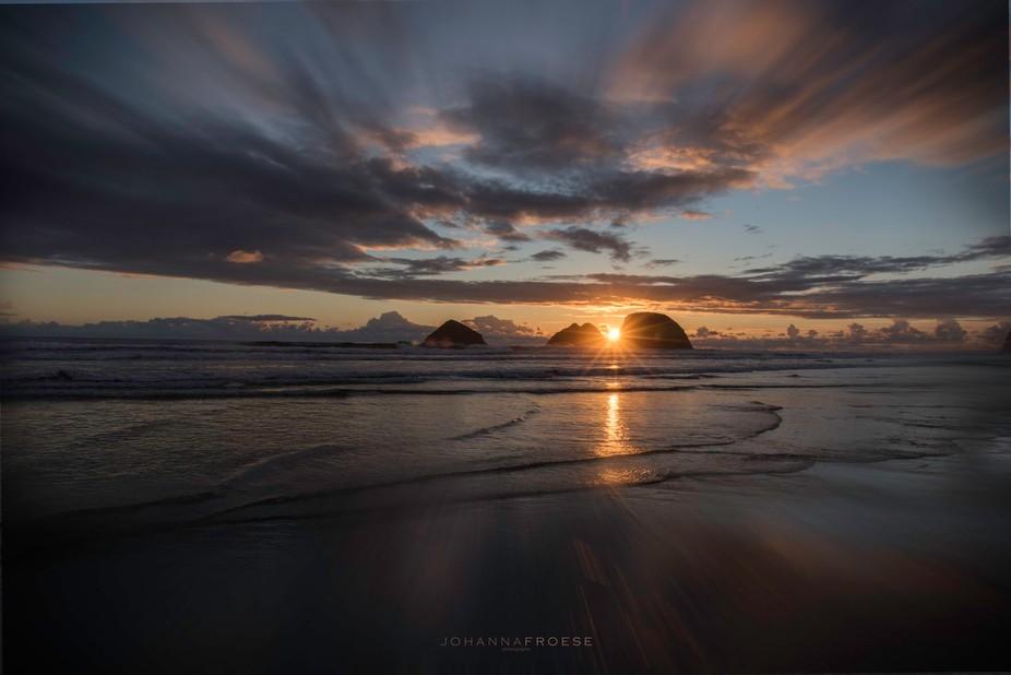 Sunset at Oceanside, OR
