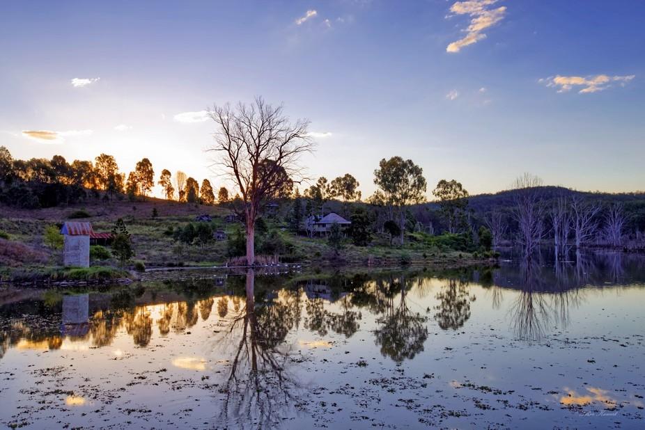 Reflections on Wyaralong Dam QLD