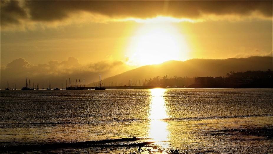 A glorious Sunrise at Cannonvale Beach, Queensland Australia