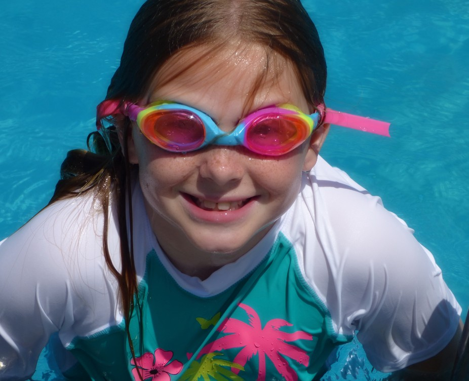 Hailey lovin' the summertime  Poolside... Brooksville, Florida
