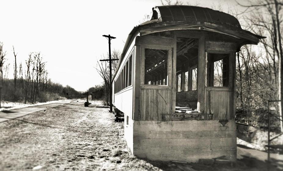 Abandoned rail trail in eastern Pennslyvania