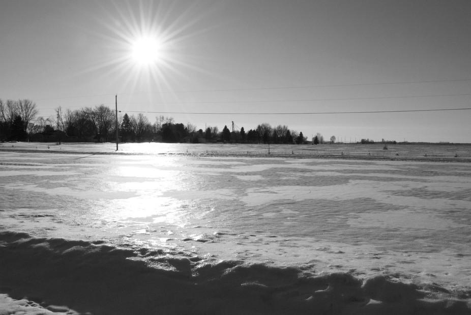 Sun and Snow -- B&W