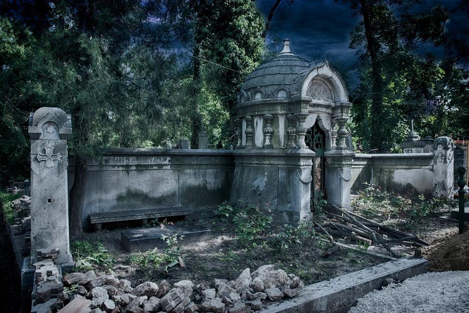 Mausoleum in Chisianu, Moldova graveyard. Circa 1800's.