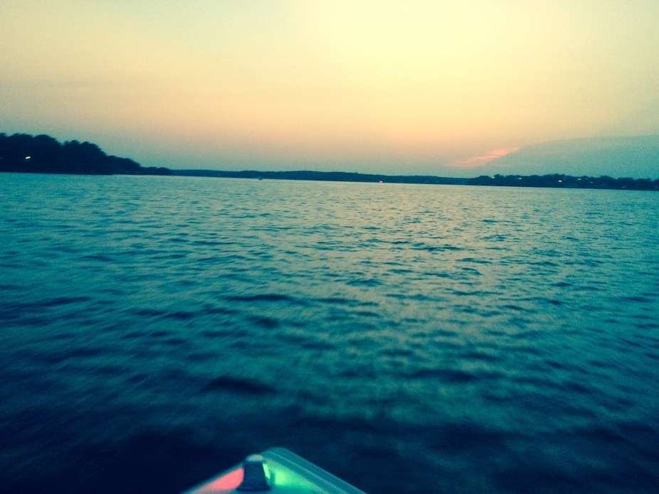 An evening boat ride on Lake Of The Ozarks in Missouri. It was a beautiful ride