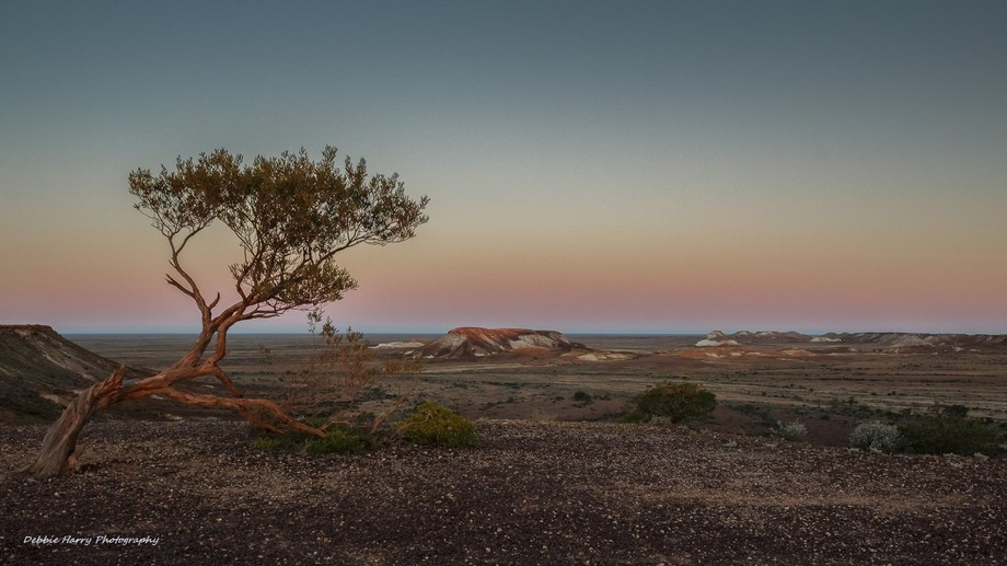 "Sunset over ""The Breakaways"" South Australia"