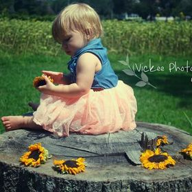 One year old photo's I did for my daughter! I had to get the beautiful sunflower field in there!