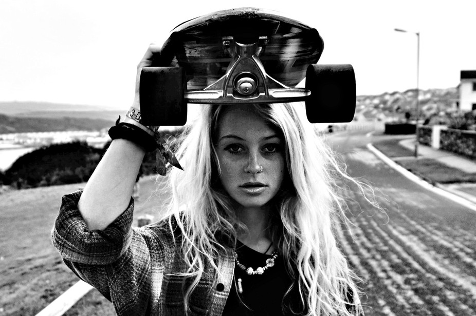 Rocky Poole is a female skateboarder based in Newquay down in Cornwall. She is helping keeping th...