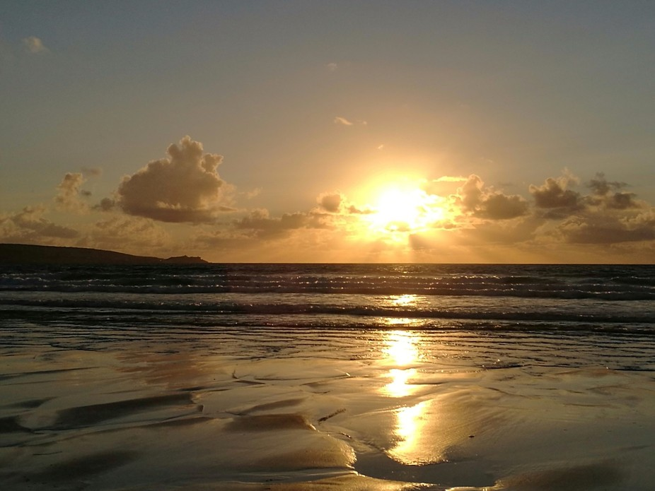 A walk along the beach of St Ives Bay, Cornwall