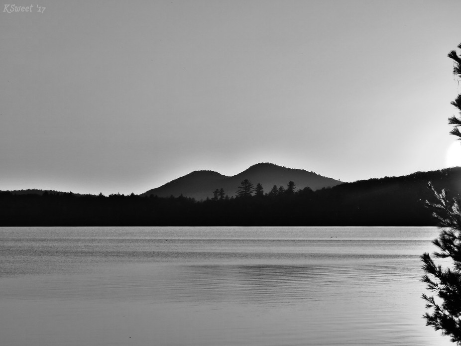 one of the many views from our campsite on Meacham Lake in the ADKs 2017