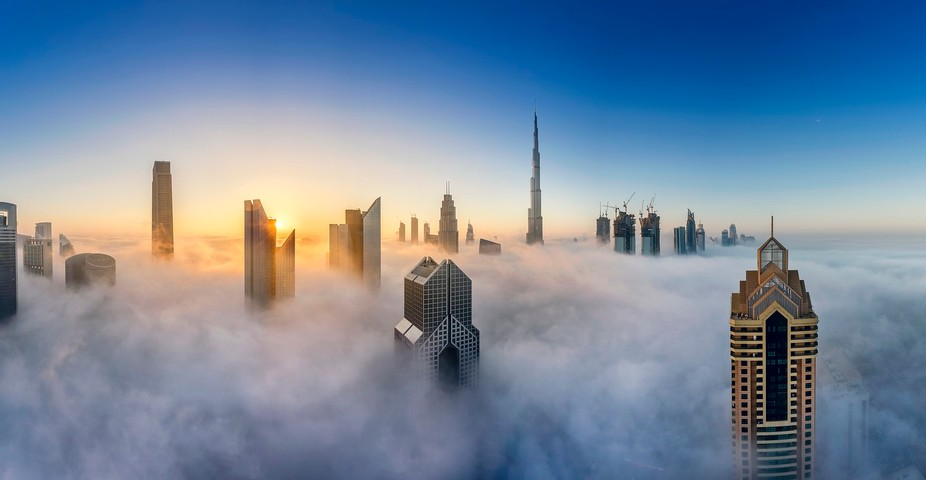 Typically, the phenomenon of the low dense fog covering Dubai in early morning hours occurs twice...