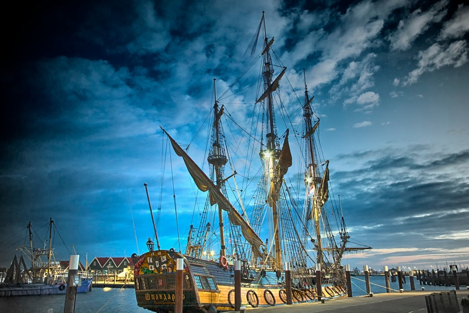 This ship from Russia was in the harbour of the Dutch island Texel. I processed the picture in Ph...