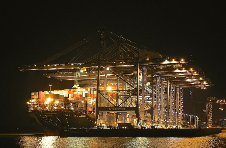 The Port of Felixstowe, in Felixstowe, Suffolk is the United Kingdom's busiest container...