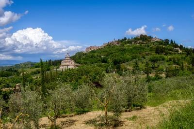 View of San Biagio Church Tuscany near Montepulciano