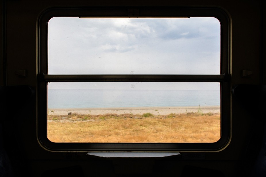 The long and slow journey from Reggio Calabria to Crotone (Italy), along the old Ionian railway w...
