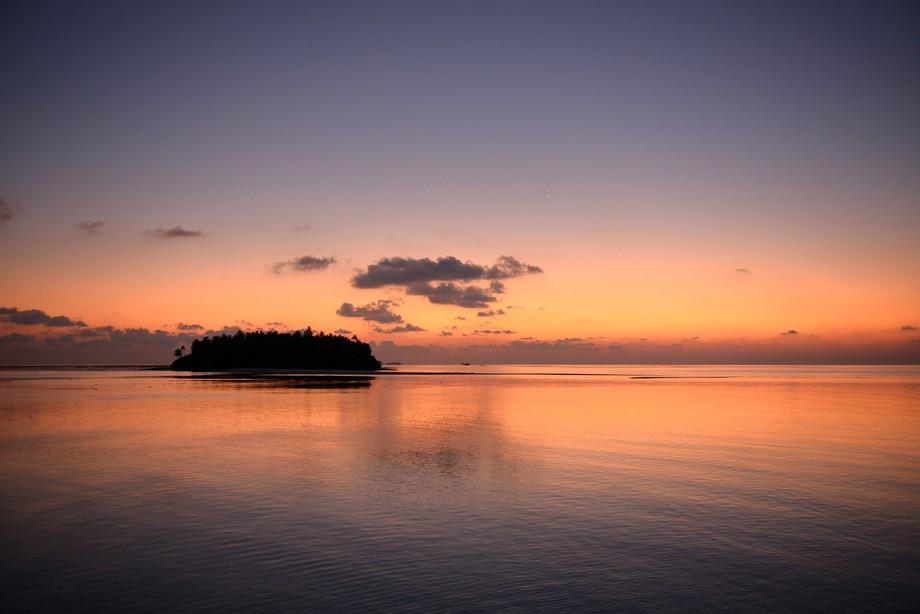 A wonderful sunset over one of the many Maldivian atolls