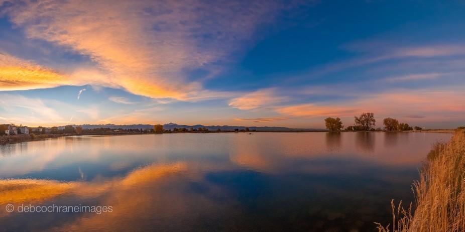 Erie Reservoir sunset