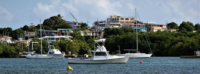 This Las Croabas in Fajardo, Puerto Rico, is like a small modern village by the coast in Fajardo.
