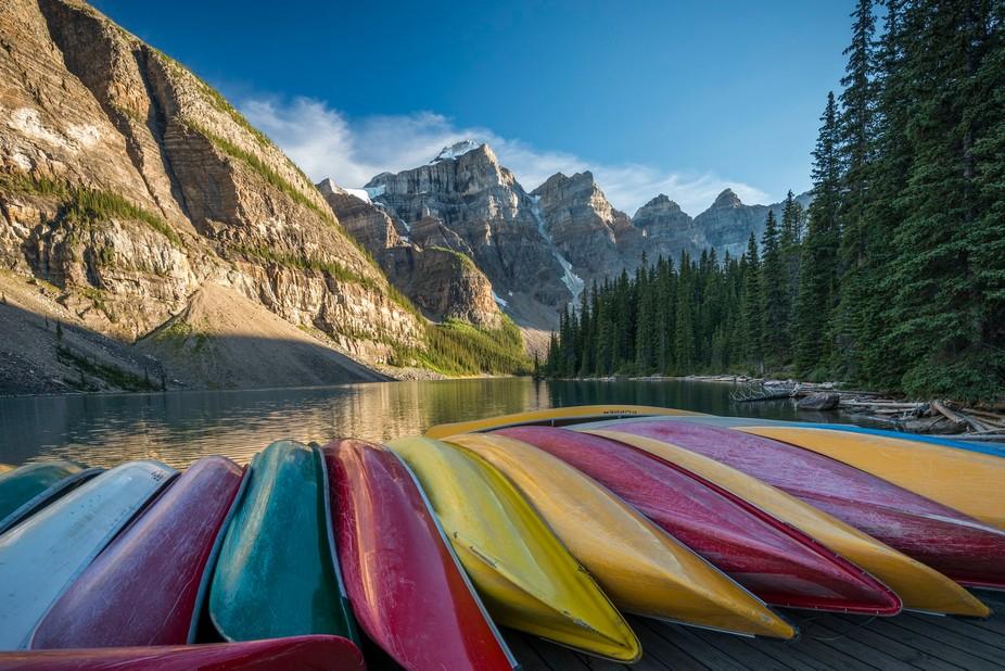 Lake Moraine Banff National Park Alberta Canada