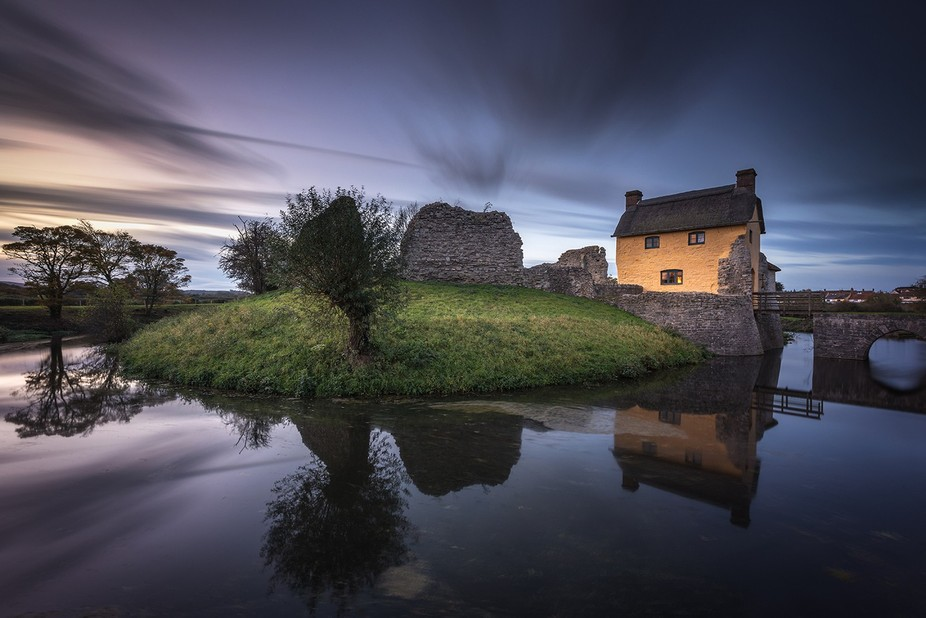 Image captured on a cold winters night at Stogursey Castle in Somerset