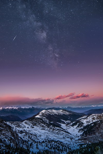 Mountain and Milky Way
