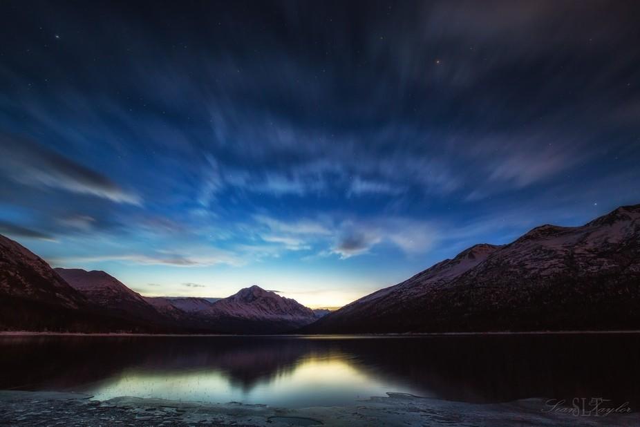 Eklutna Lake Sunrise 24Dec17