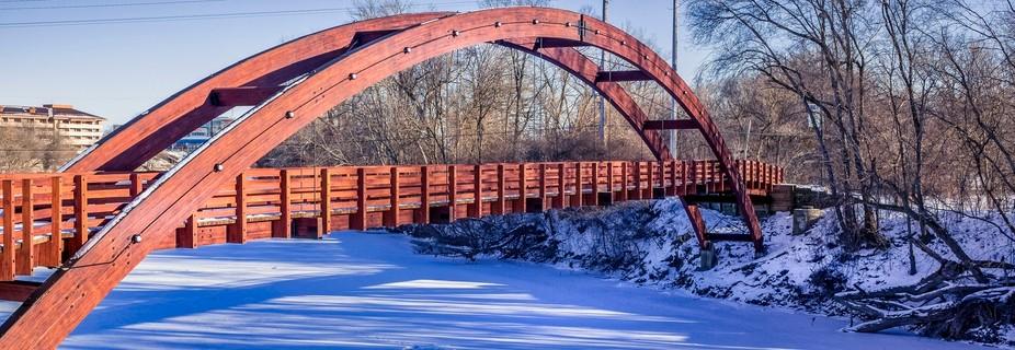 The three sided Bridge in Midland Michigan