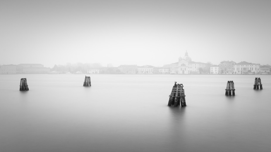 Long exposure shot from the Zattere pier in Venice, Italy.