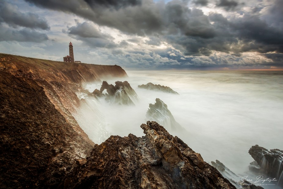 At St. Pedro de Moel, Portugal, this epic scenery was my spot, with the waves crashing close to m...
