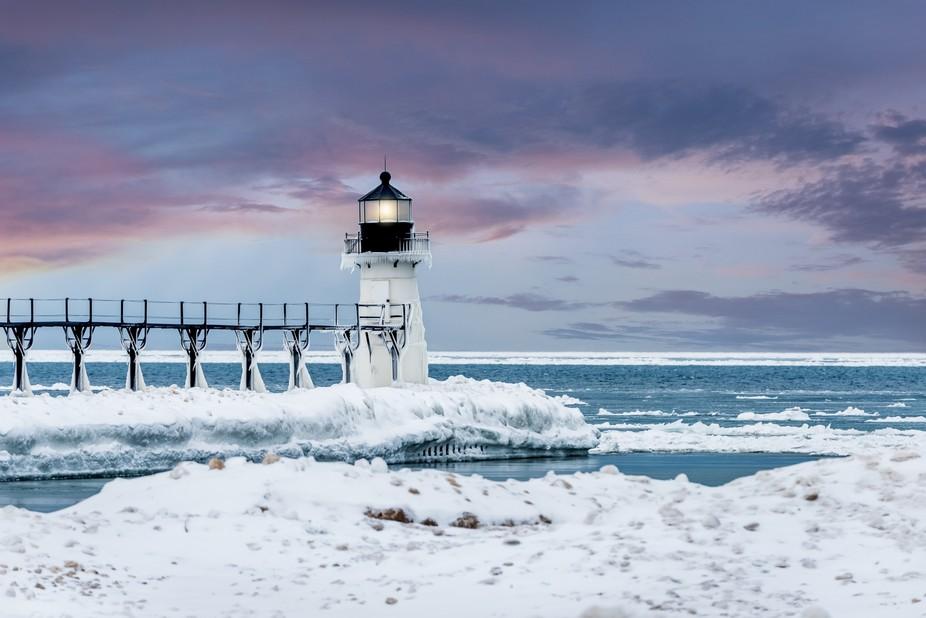 St. Joseph Lighthouse in Winter 3 of 4