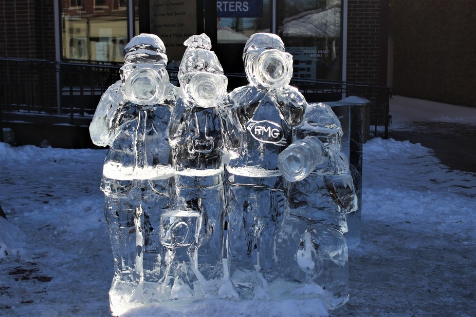 Ice Carving from an Fire and Ice festival