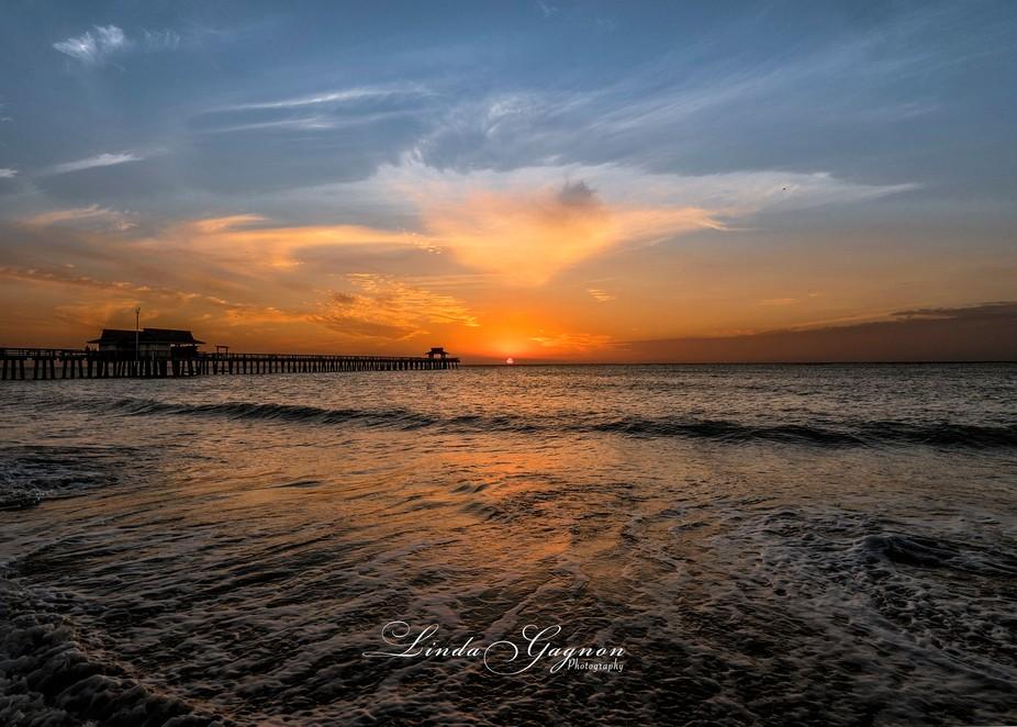 Sunset Naples Pier, Florida