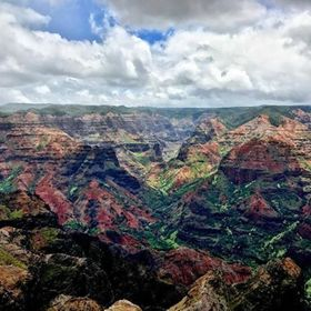 #kauai #island #canyon views at #waimea #lookout #hawaii
