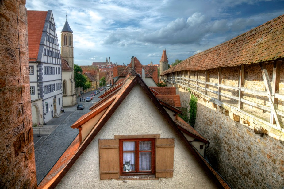 Beautiful Rothenburg ob der Tauber in Germany