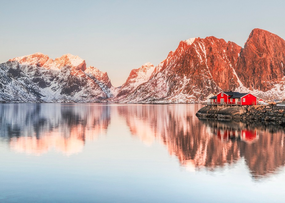 From the best day of photography I had in Lofoten. Looking the other way from Sakrisøy towards t...