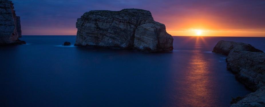 Sunset at Fungi Rock on Gozo
