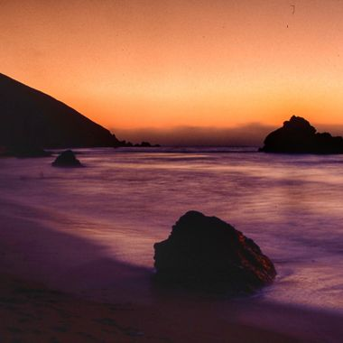 California coast at sunset.