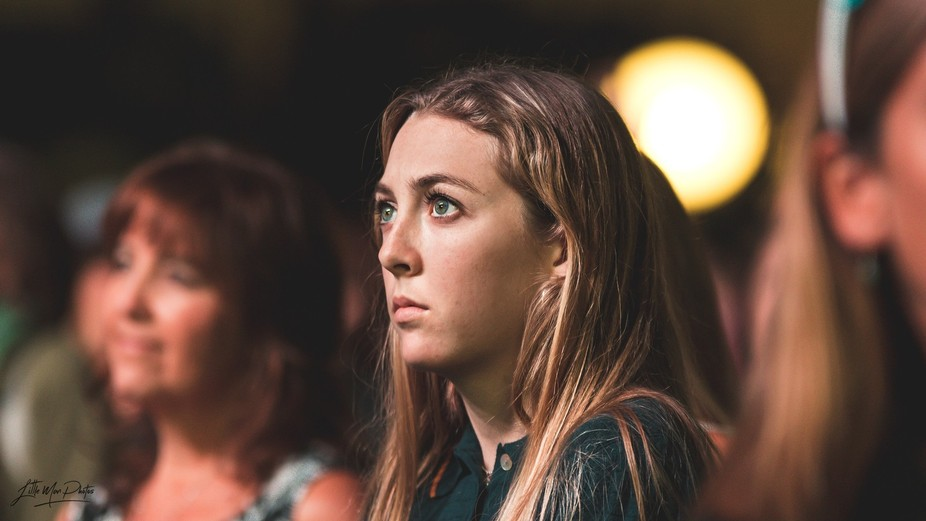 At a concert. I love her stare.