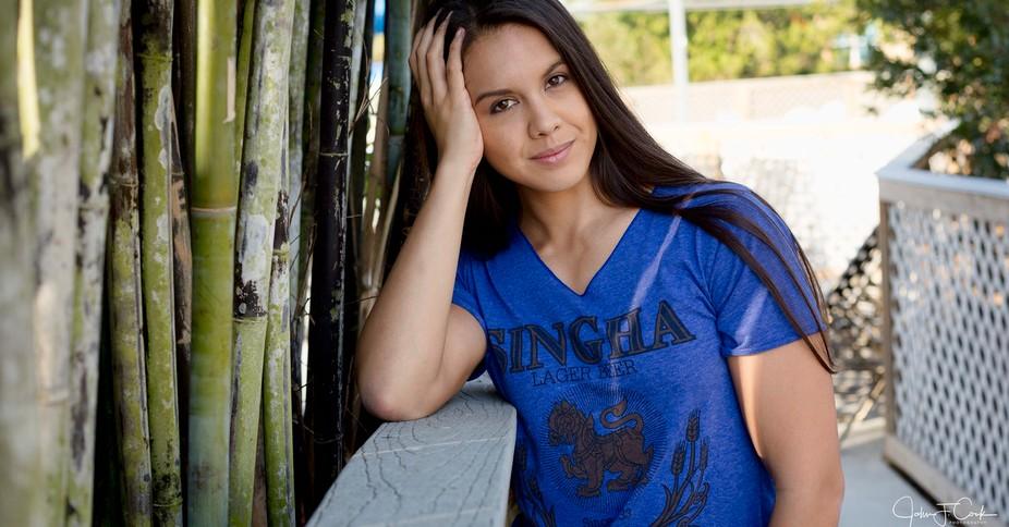 Model Calissa at Winter Garden Florida shoot