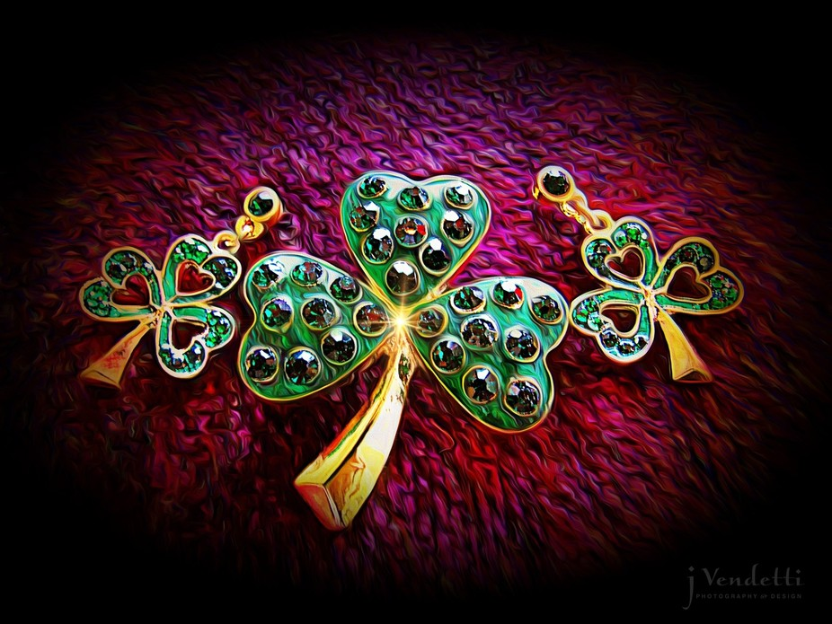 A wee bit of Irish magic! Ceating artwork with some of the items I sell. :) :) :)