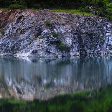 rock quarry reflection