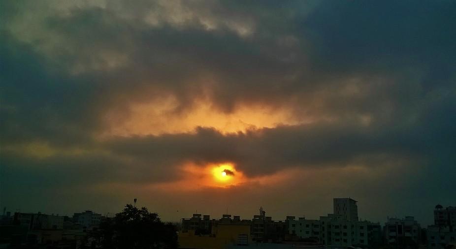 Sun through the clouds...
