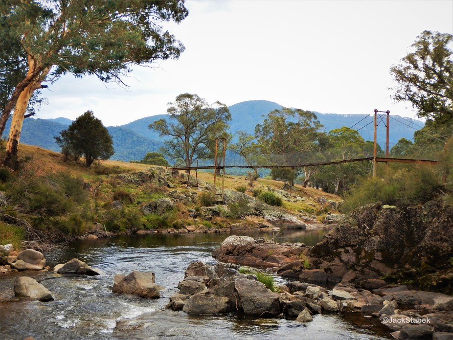 Here is a photo of an old bridge over the Murray River, in the Snowy Mountains