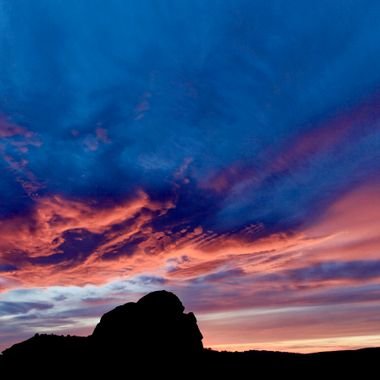 Sunset and Clouds.  Arches National Park, Utah