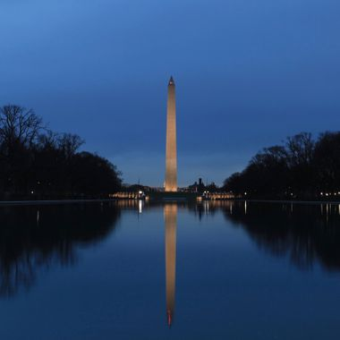 Washington Monument & The Reflecting Pool.  Washington, DC.